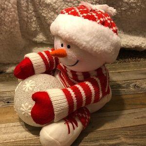 Avon Christmas snowman decoration snowy glow NEW